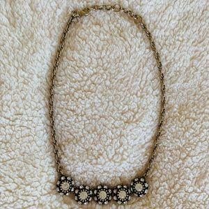 Gold Brighton Swarovski Stone Necklace